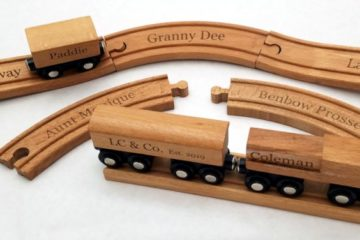 Personalized Wooden Toy Train Set